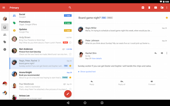 New gmail app ui
