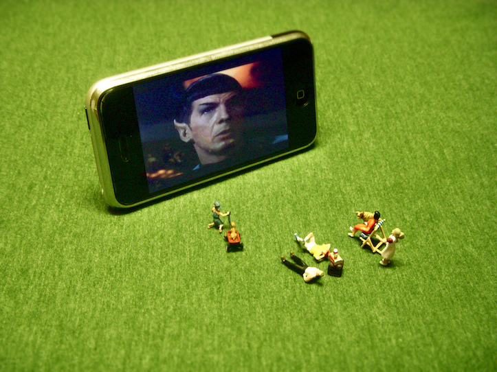 Watching movies on iphone