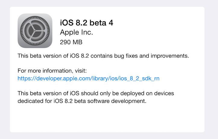 Ios8 2 beta 4