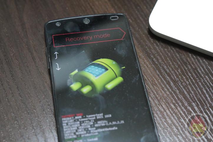 Nexus 5を工場出荷状態にする方法