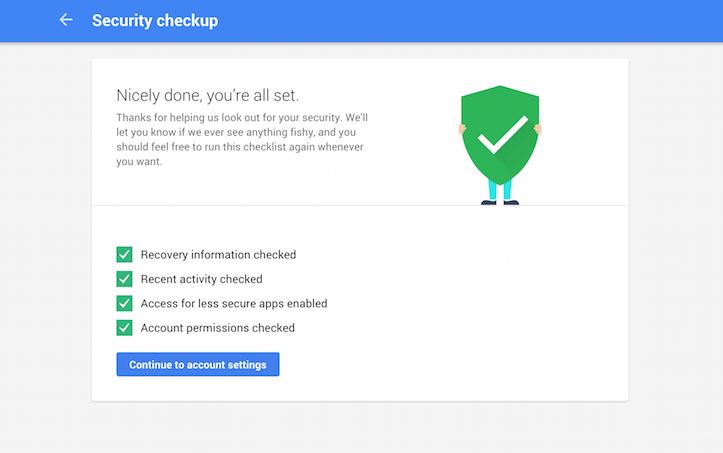 Google security check