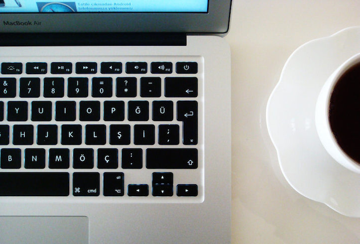 Macbook air coffee