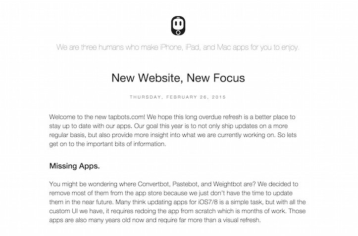 New website new focus