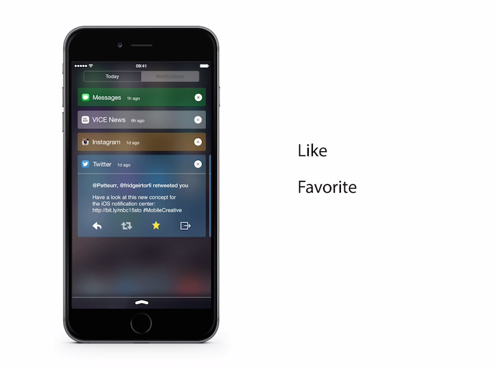 Redesign of the notification center