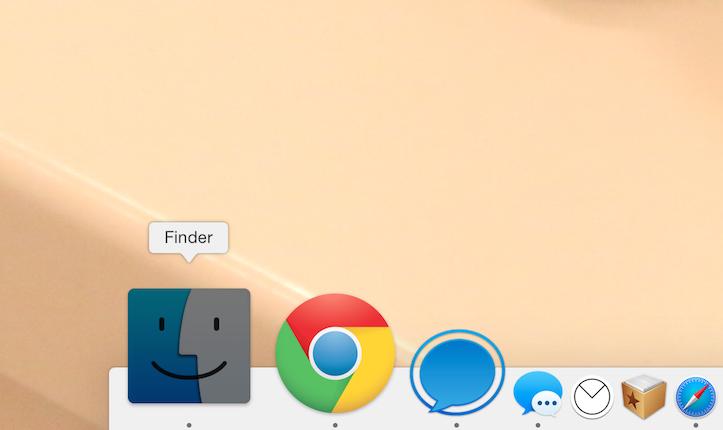 Dockをキーボードで操作する方法