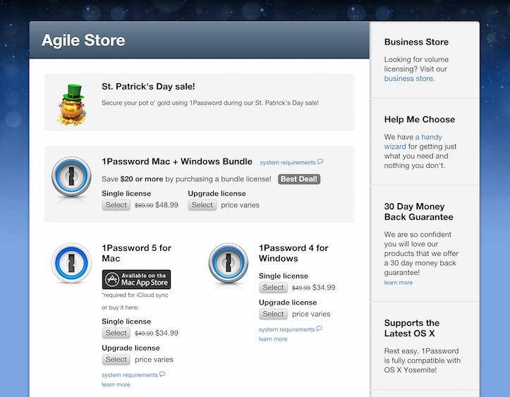 1password sale