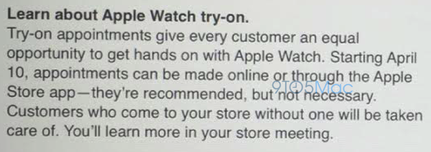 Apple Watch Try On Reservations