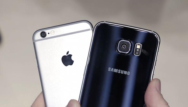 Galaxy S6 iPhone 6 Comparison