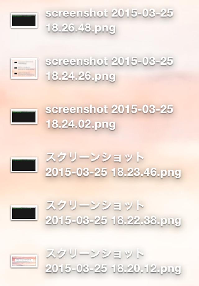 Screen Shot File Name