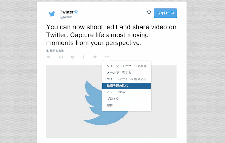 Share Videos On Twitter
