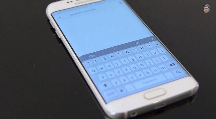 Galaxy s6 edge keyboard