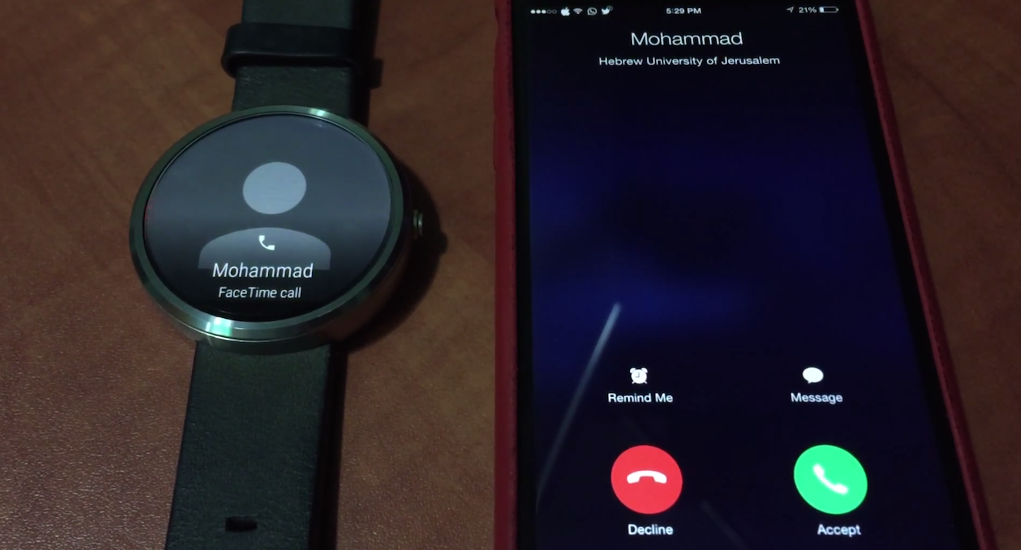IPhone Calls on Android Wear