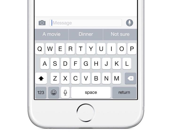 Iphone ios8 keyboard