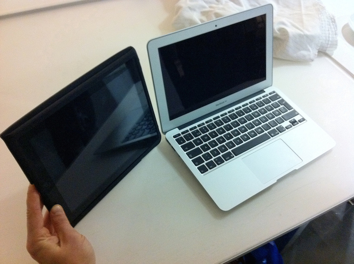 Macbook air 11in and ipad