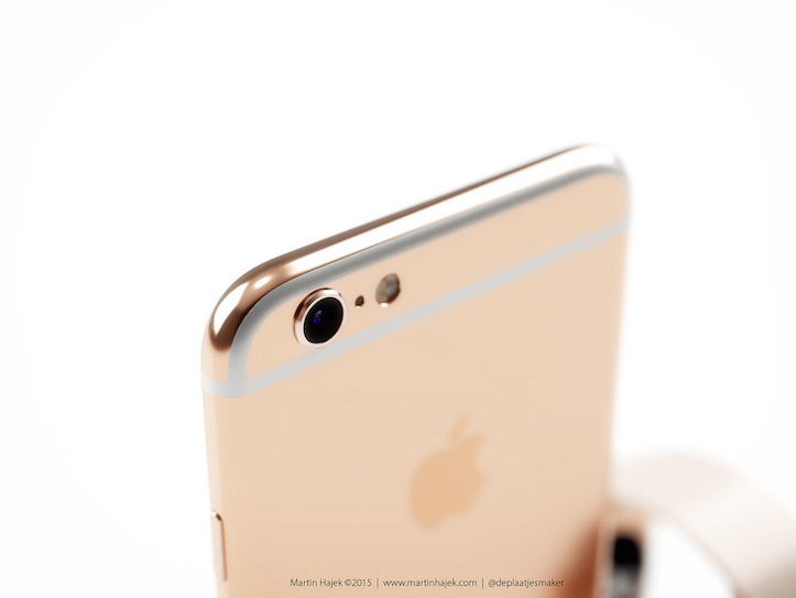 Pink gold iphone 6s