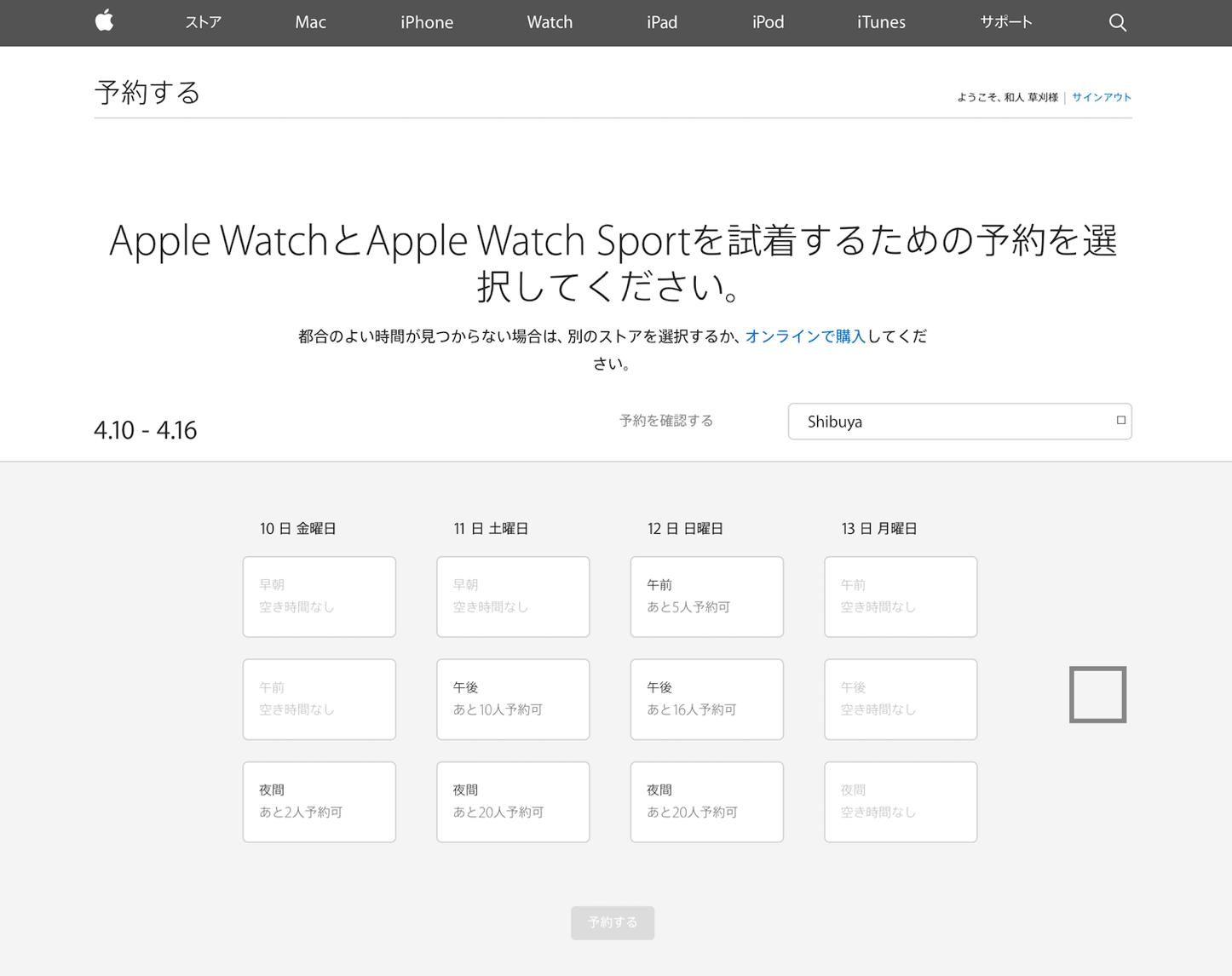 Apple Store試着サイト
