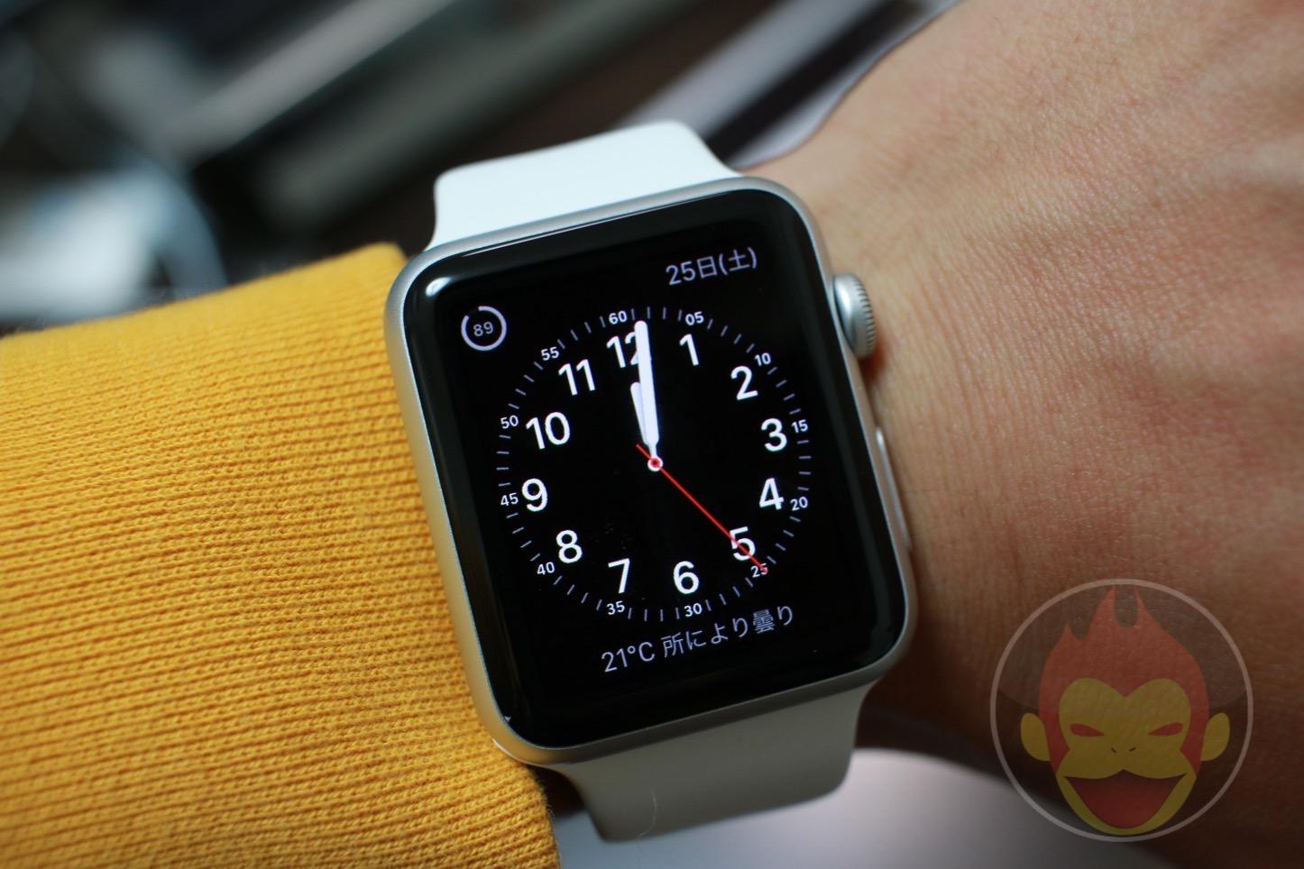 Apple Watchの電池持ちを試してみた