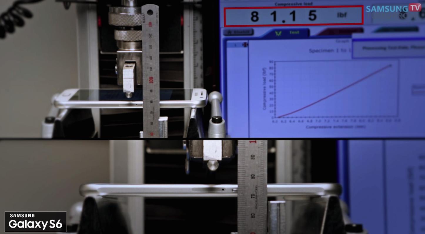 Galaxy S6 S6Edge 3point Bend Test