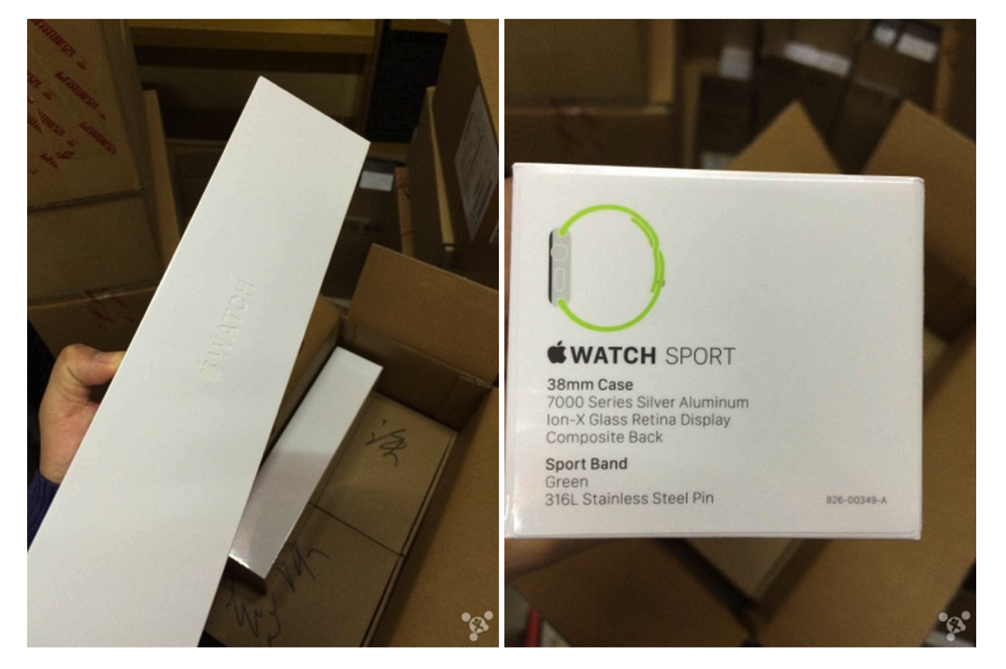 Apple watch sport boxes