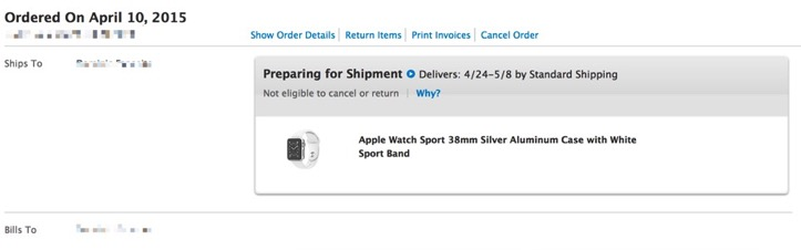 Apple watch start shipping