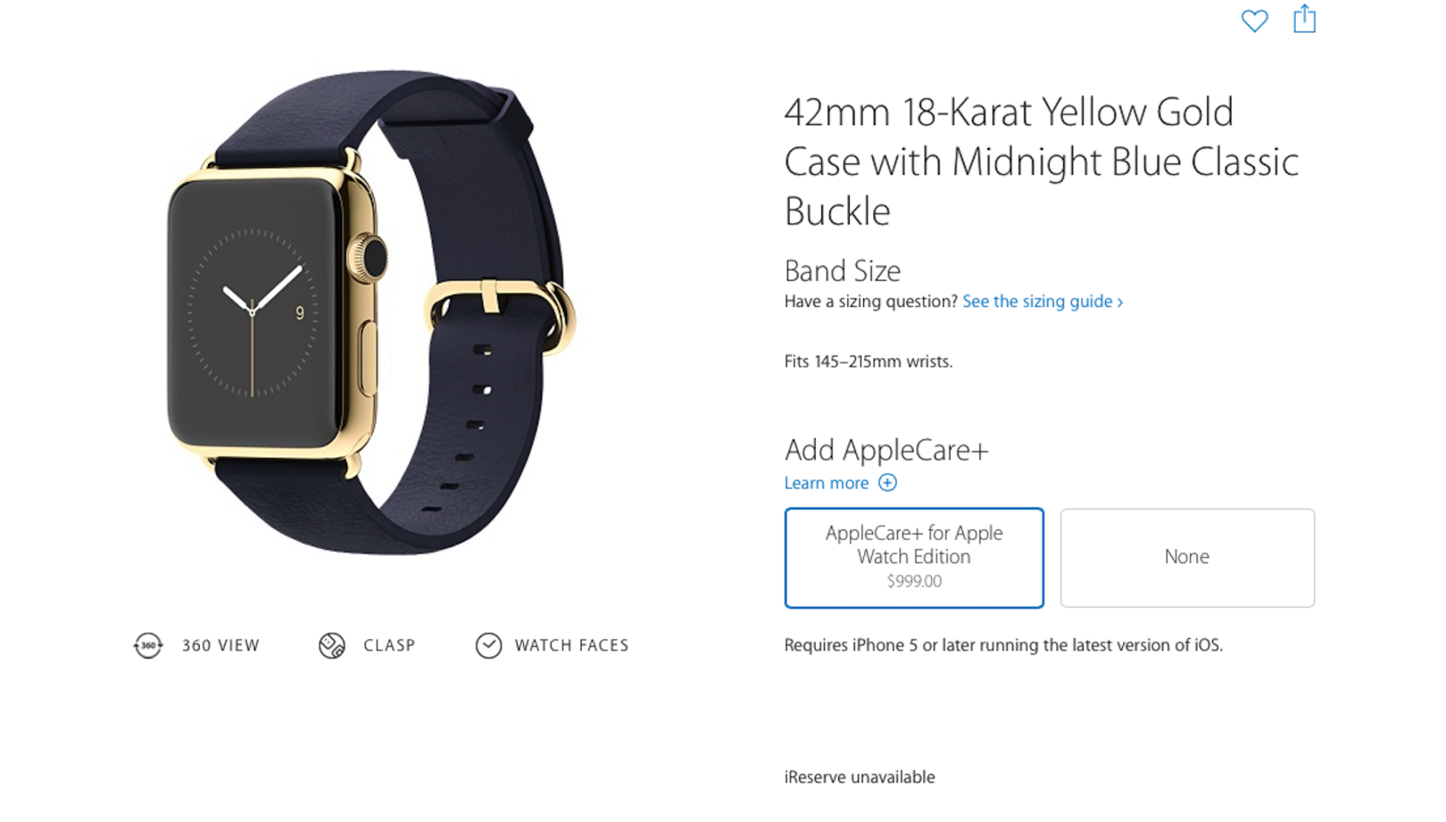 Applecareplus for apple watch edition