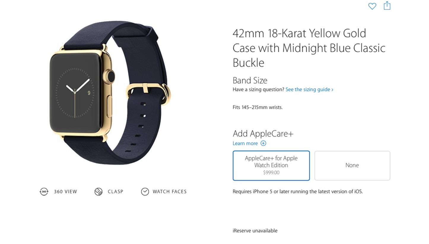 Applecareplus for apple watch edition