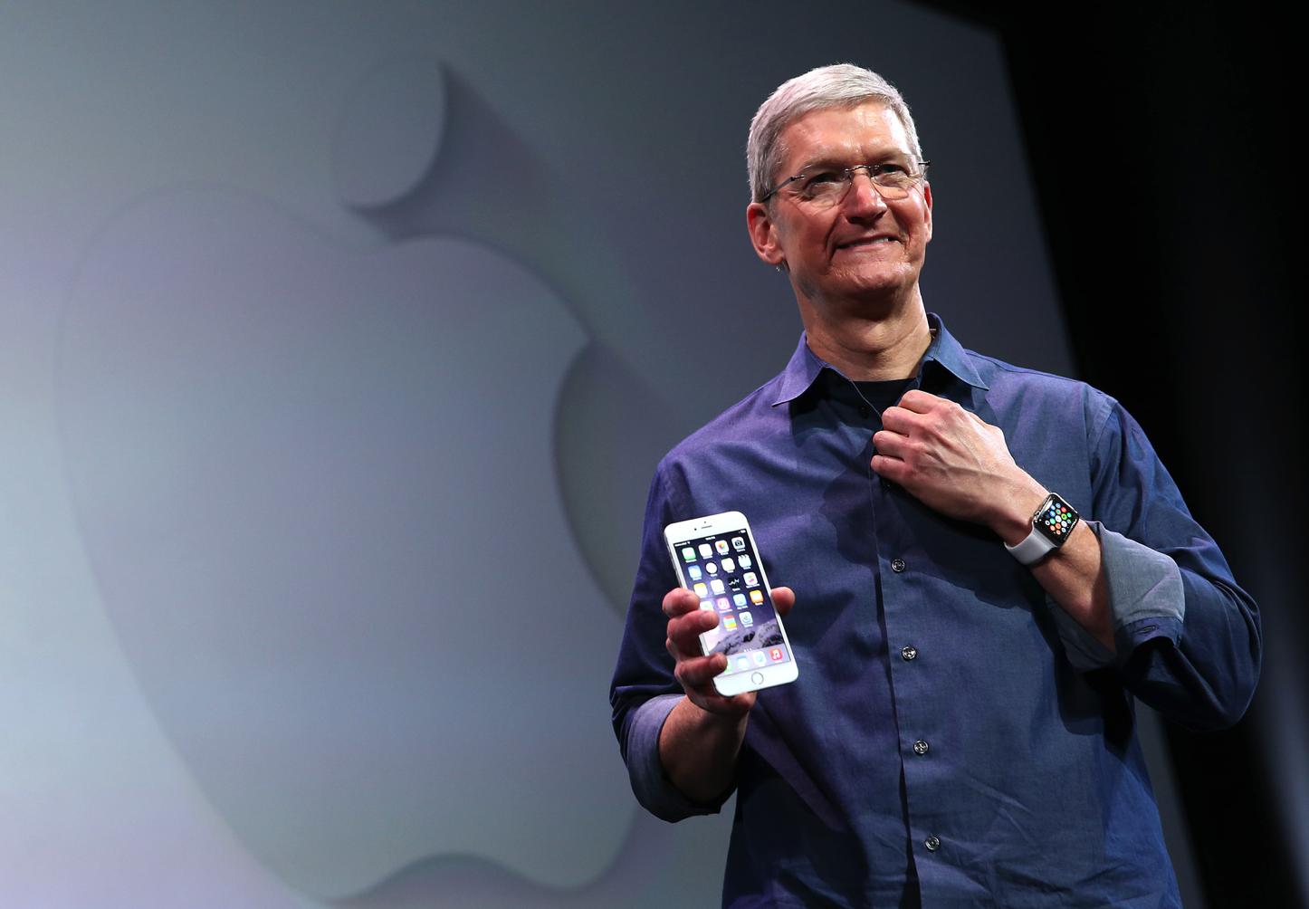 Tim Cook With Apple Watch