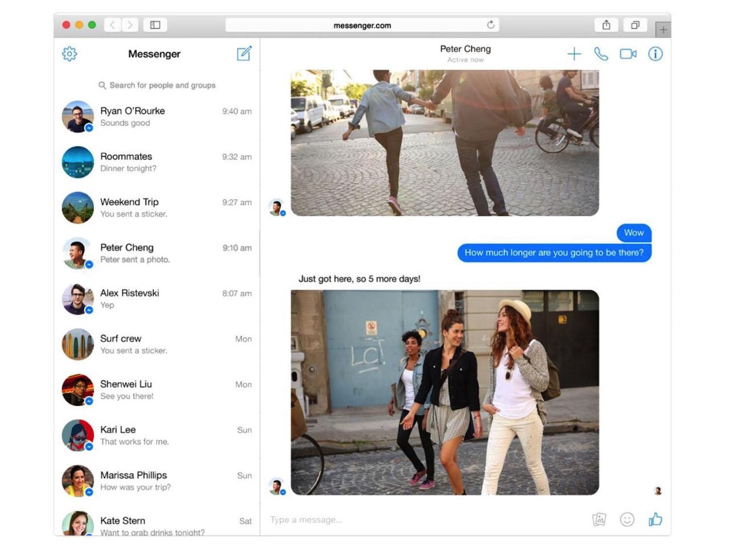 Messenger screen shot