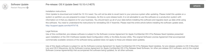 OS X Yosemite 10.10.4
