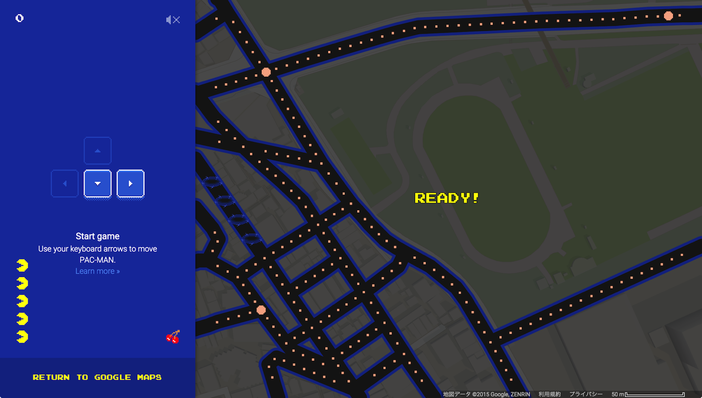 Pac man google maps