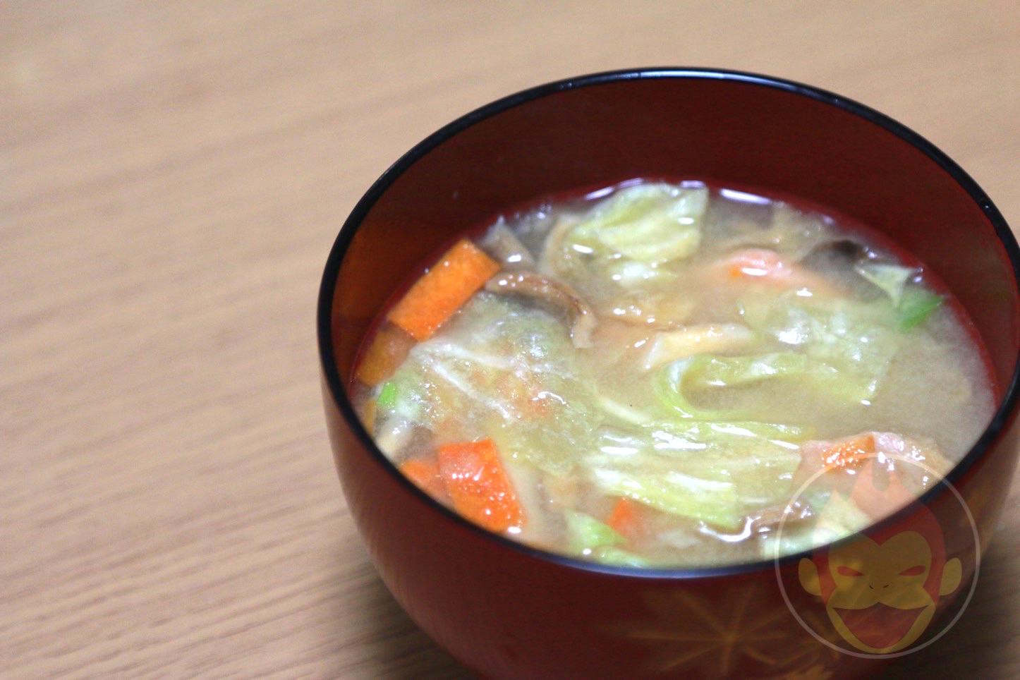 アマノフーズの味噌汁(具だくさん汁)