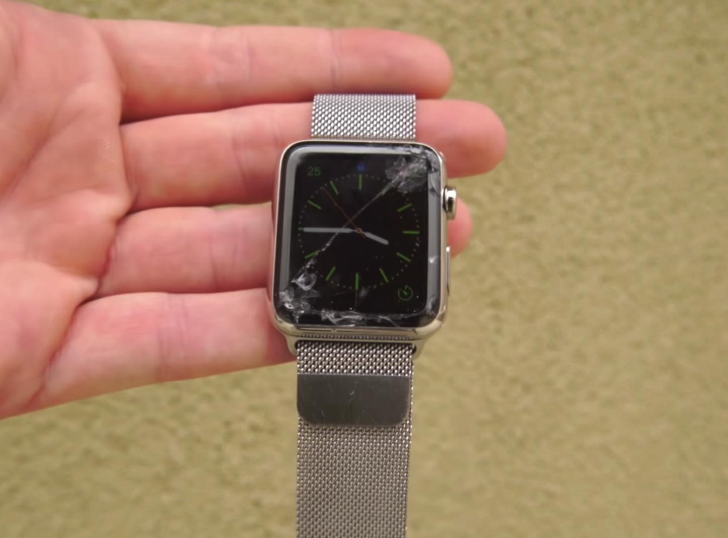 Apple Watch Display Crack 1