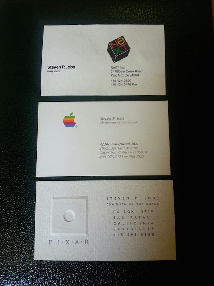 Steve Jobsの名刺