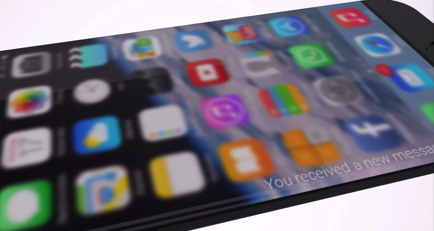 Iphone concept borrowed from galaxy s6 edge