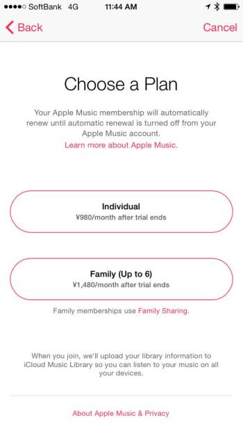 Apple Music Pricing