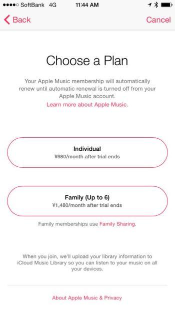 Apple Music Pricing