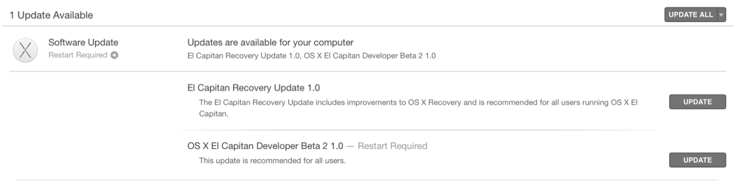 El Capitan Beta