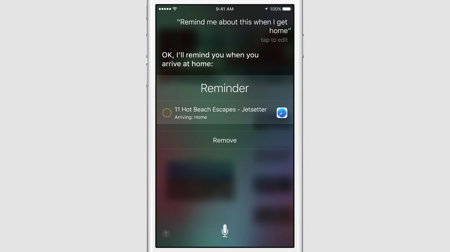 Reminder and Siri