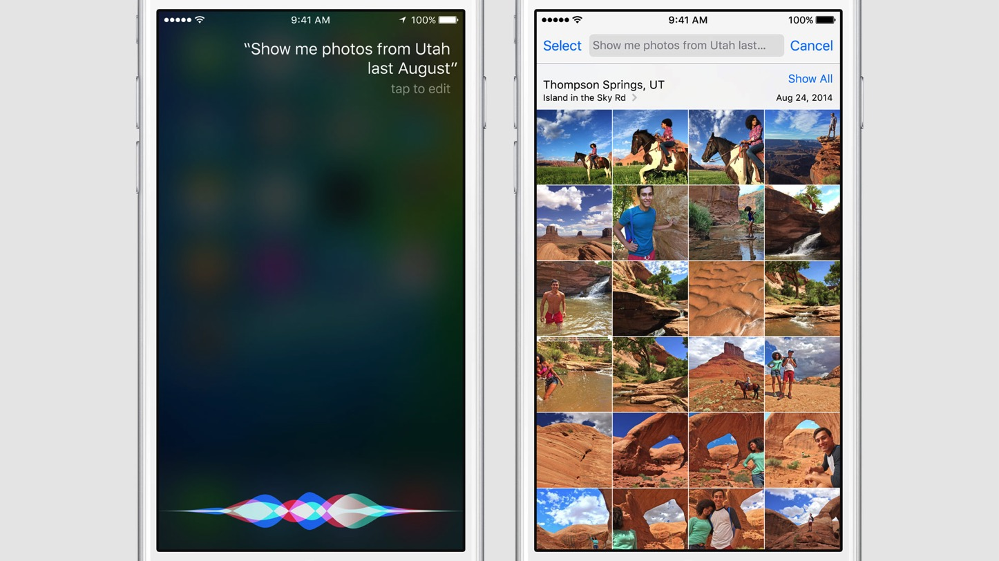 Siri and Photos