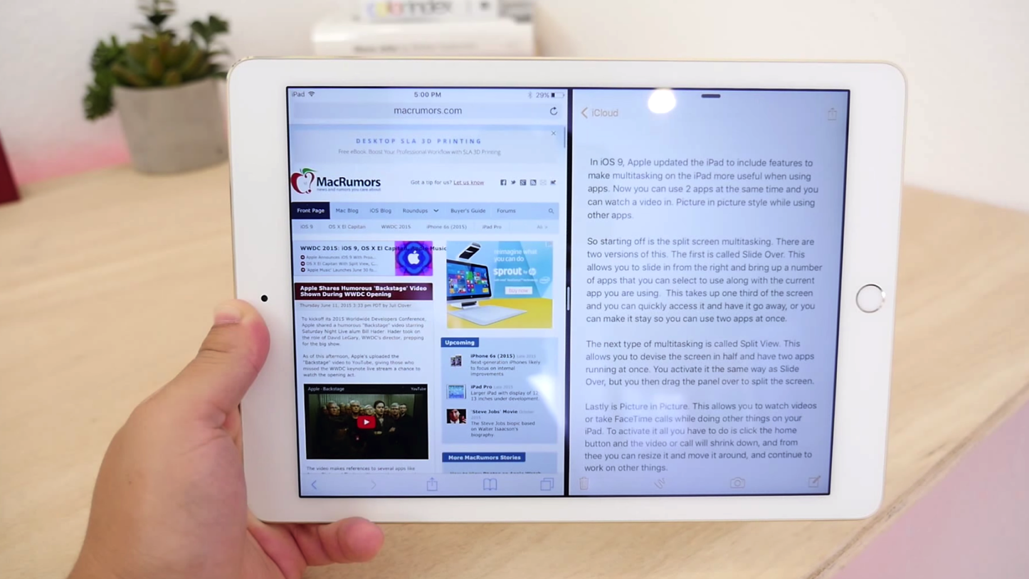 Ios9 ipad multitask