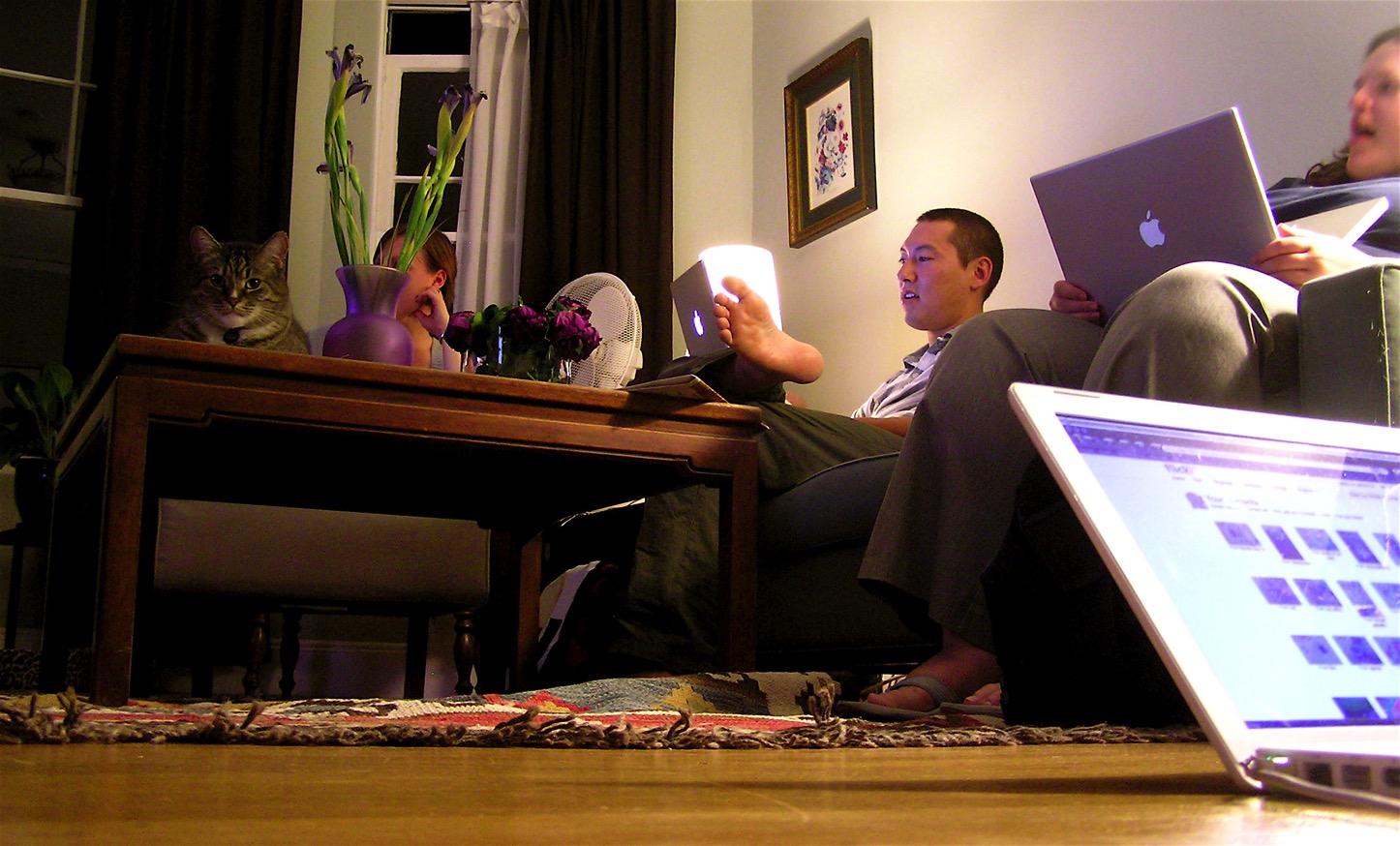 Mac in living room