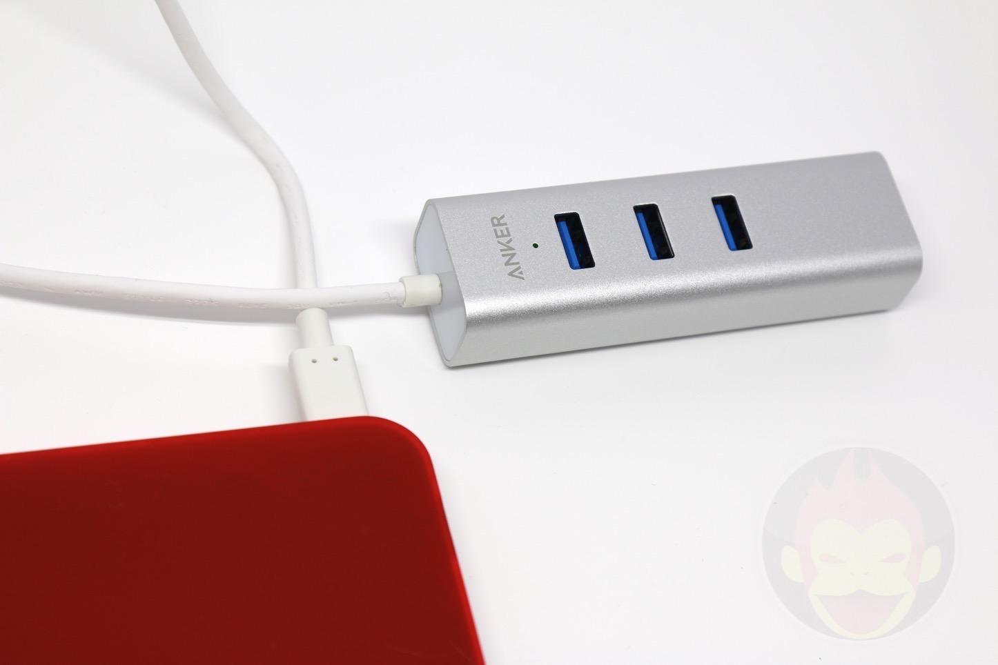 Anker USB-C 3ポート USB3.0イーサネットアダプター付ハブ USB