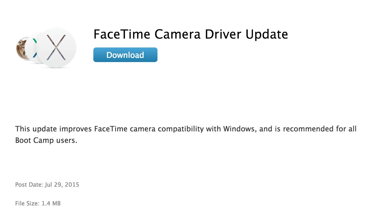 FaceTime Camera Update