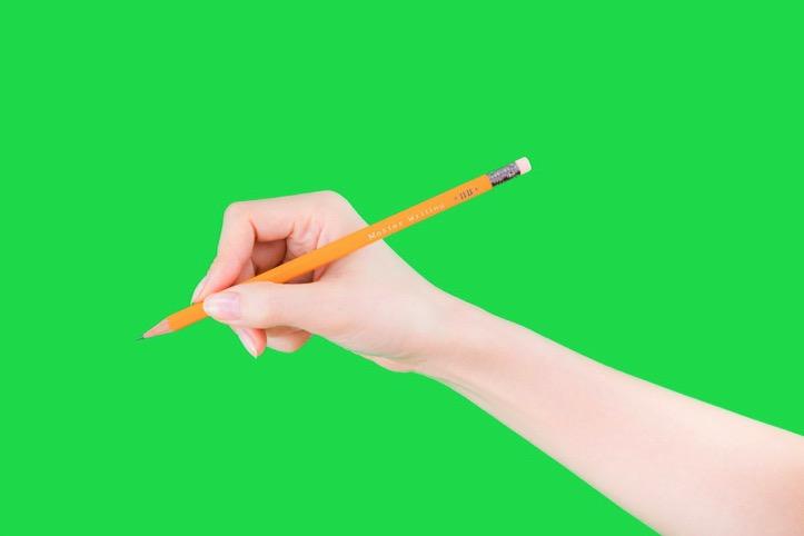 美しいハンドモデルのグリーンバック写真
