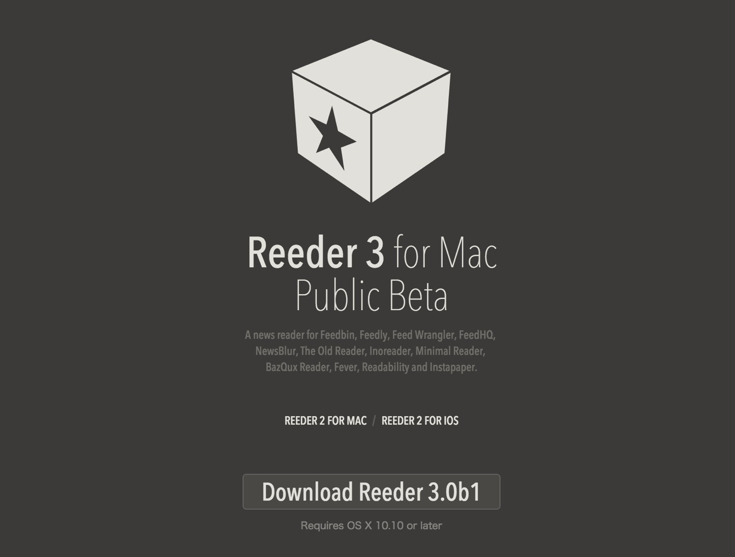 Reeder 3 for Mac Public Beta