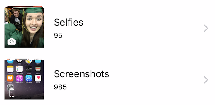 Selfies and ScreenShots