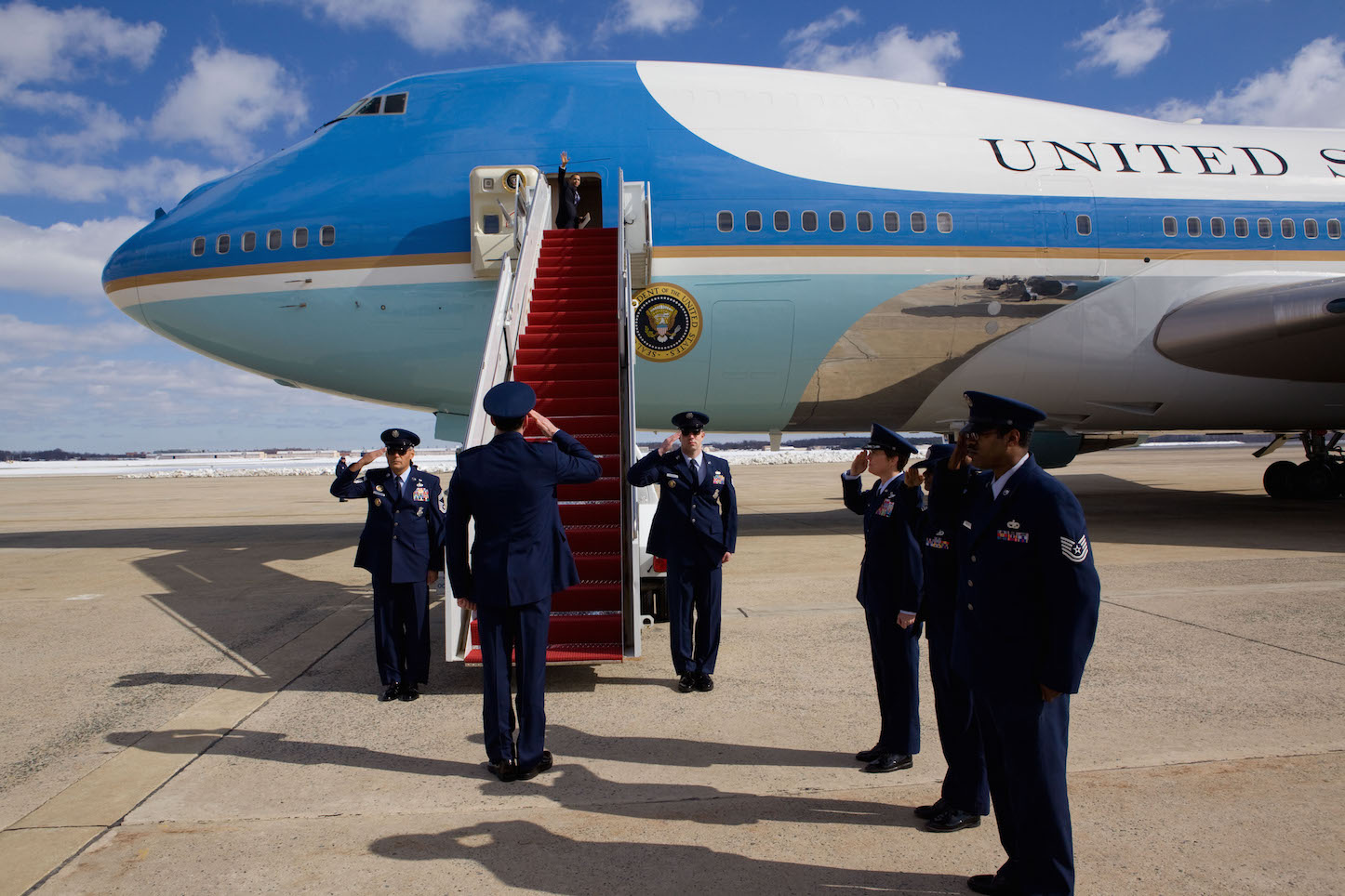 Air force 1 and obama