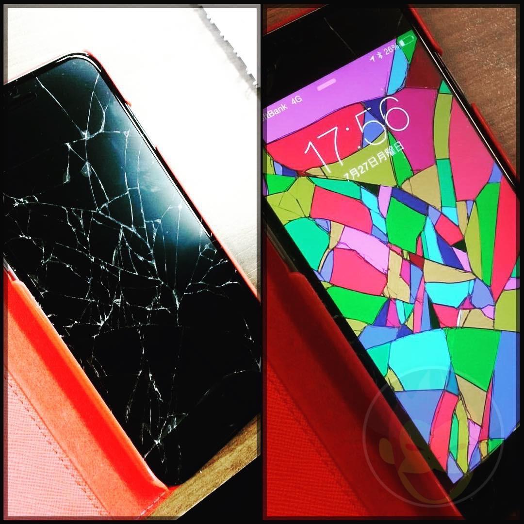 割れたiPhoneをオシャレに見せる斬新な方法が話題に