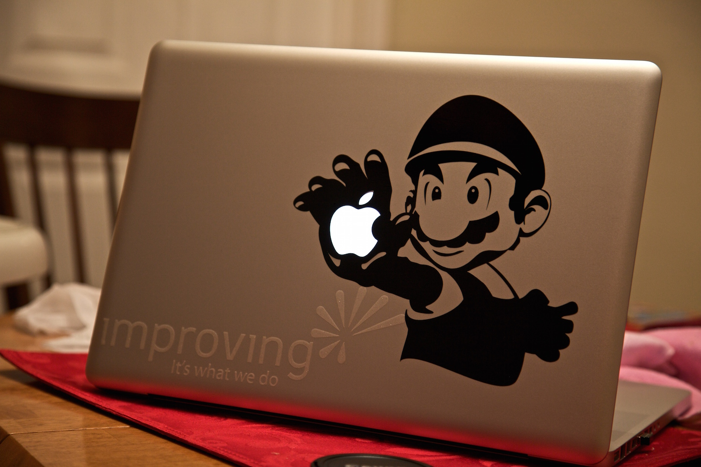 Mario and apple