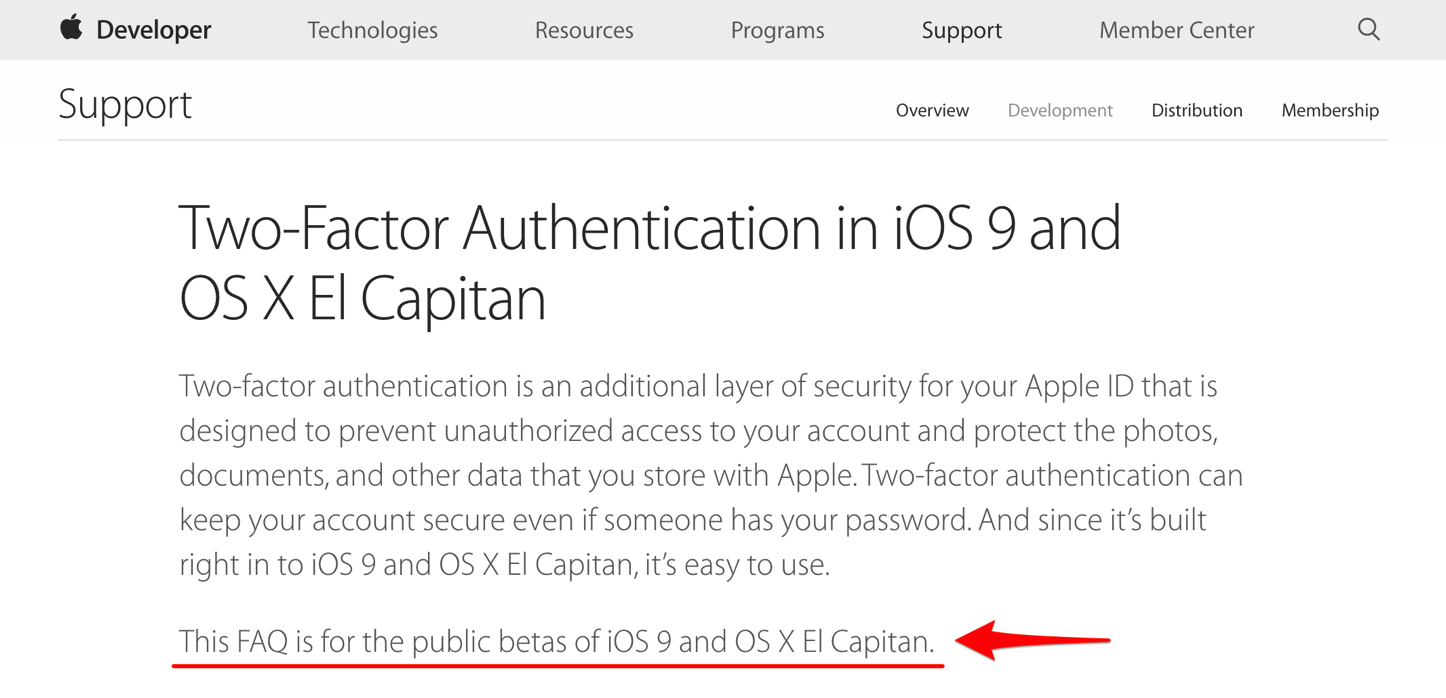 Public betas of el capitan